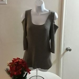 Cold Shoulder style sweater